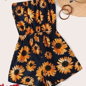 BRAND NEW Sunflower Tube Strapless Romper